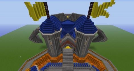 dwarven castle forge minecraft dwarves entrance main