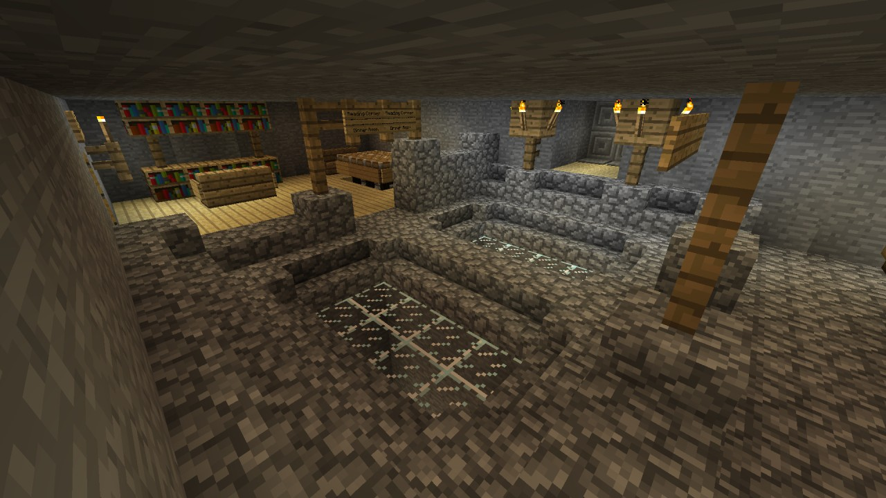Modern Cave House Minecraft Project