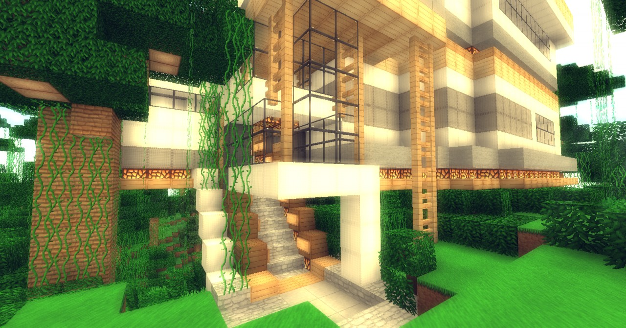 Jungle modern houseFULL FURNISHED Minecraft Project