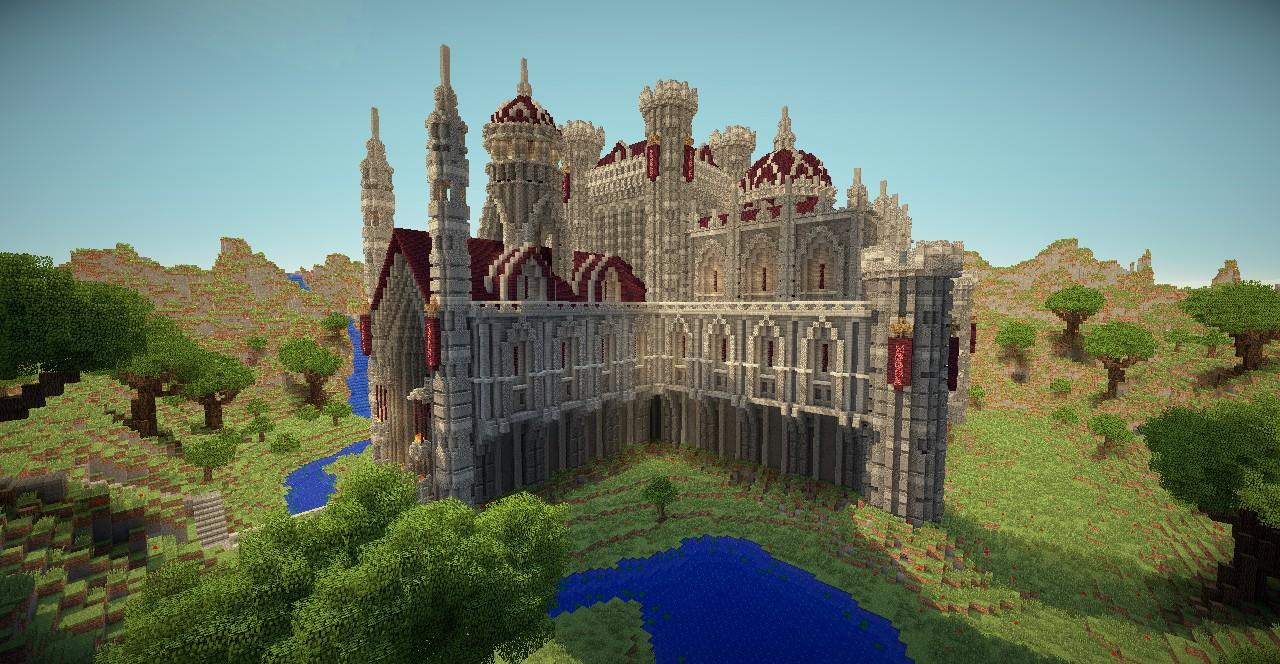 Средневековый замок в майнкрафт карты