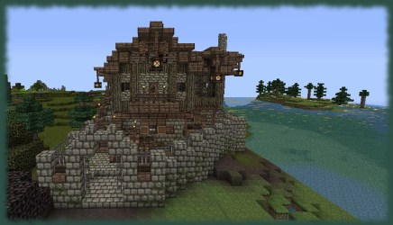 medieval townhouse fantasy minecraft library viewer planetminecraft