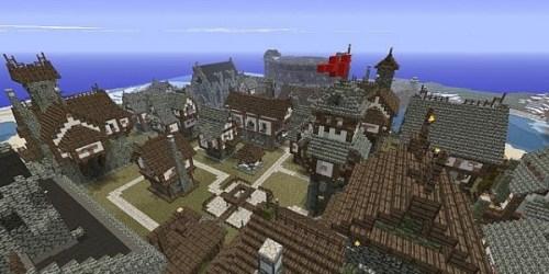 Medieval city Minecraft Map