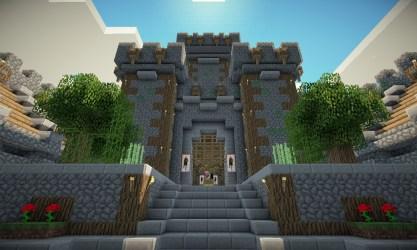 castle medieval ancient village minecraft inner yard