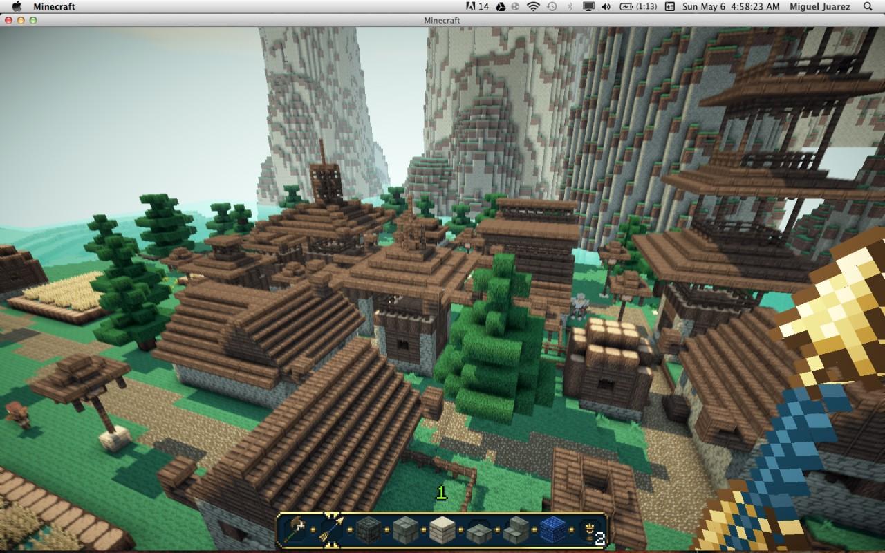 Hidden Cloud Village Minecraft Project