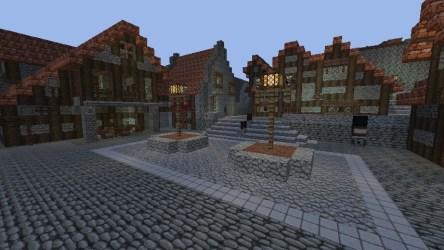 town traverse hearts kingdom square minecraft screenshot