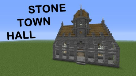 hall town minecraft castle stone halls designs medieval cool village building funy 3d library houses adorable schemagic buildings planetminecraft
