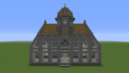 hall town minecraft stone medieval funy project planetminecraft