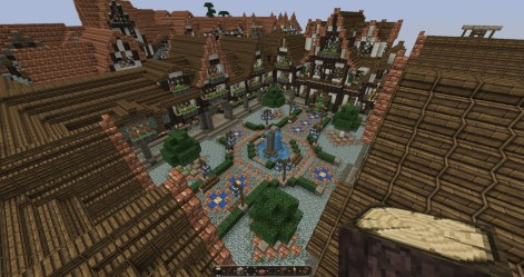 minecraft medieval town square castle layout project map lovely creations architecture update1 planetminecraft builders needed check designs buildings whole