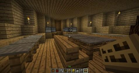 hall dining medieval ship minecraft map