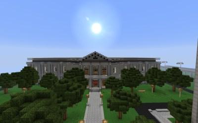 minecraft hall modern detailed crafton progress