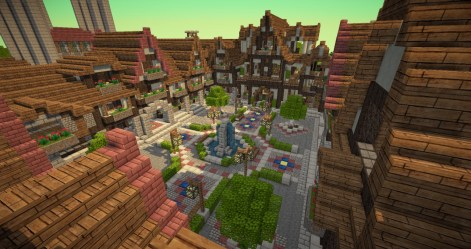 medieval town square minecraft project map lovely update1 builders needed whole check