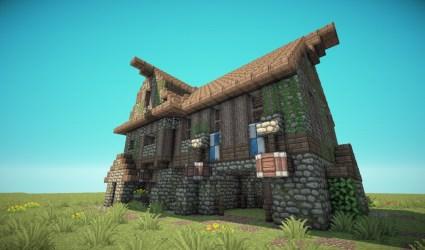 minecraft medieval barn houses survival designs barnhouse planetminecraft plans blueprints schemagic building buildings