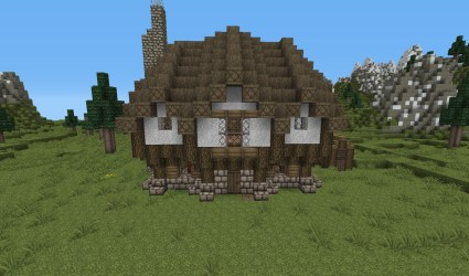 cottage medieval minecraft front