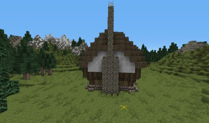 cottage medieval minecraft fire place side
