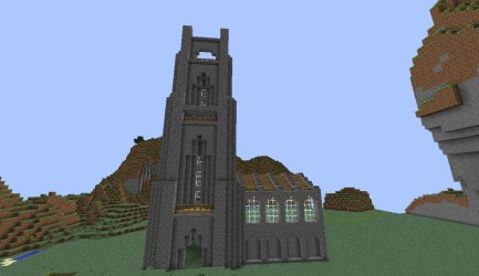 minecraft cathedral wip side