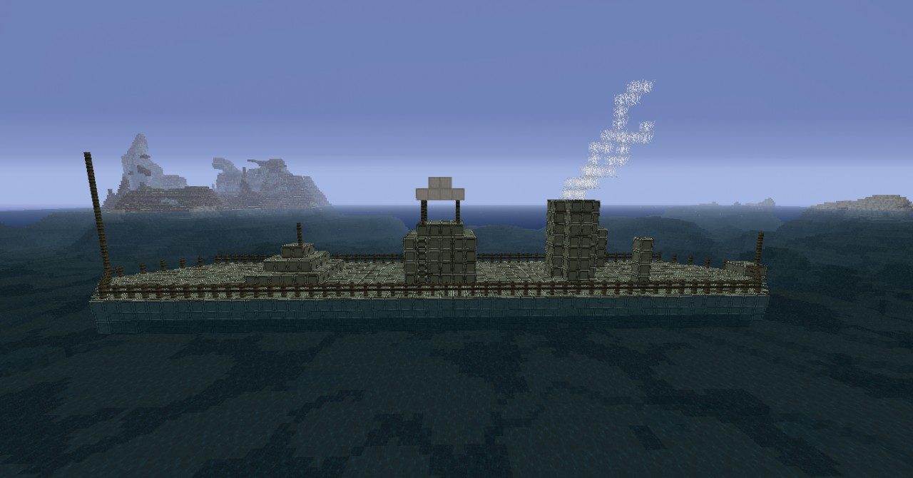 USS Monitor Historical Build Minecraft Project
