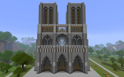 minecraft notredame map 25th published project
