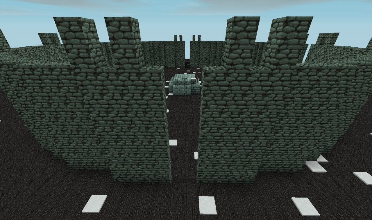 Fortress wall self building and repair Minecraft Project