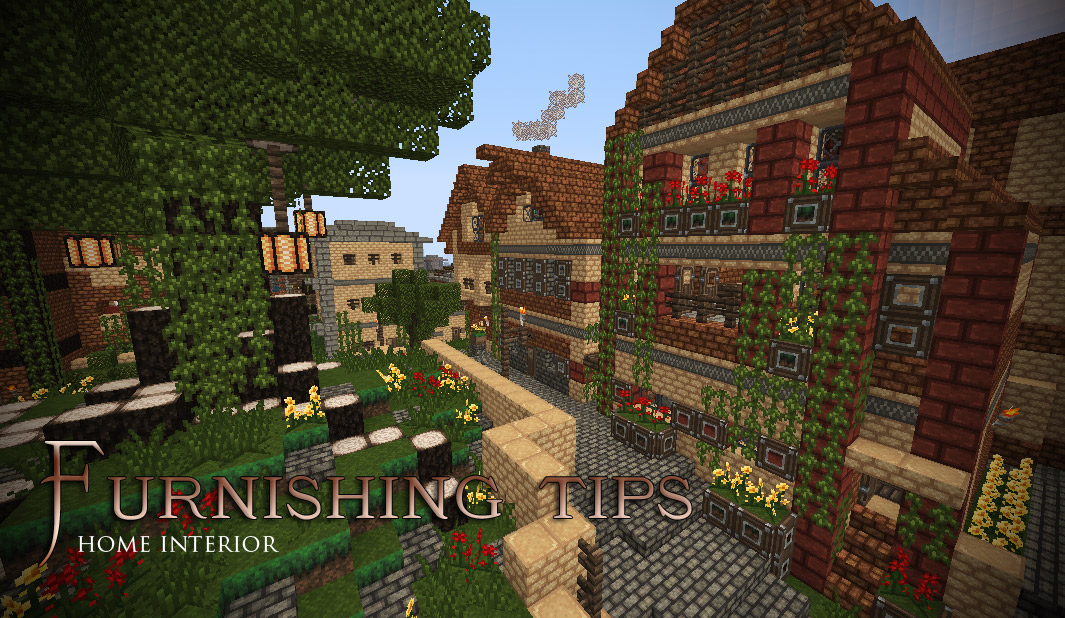 Bookshelf Around Bed Furnishing Tips - Home Interior Minecraft Project