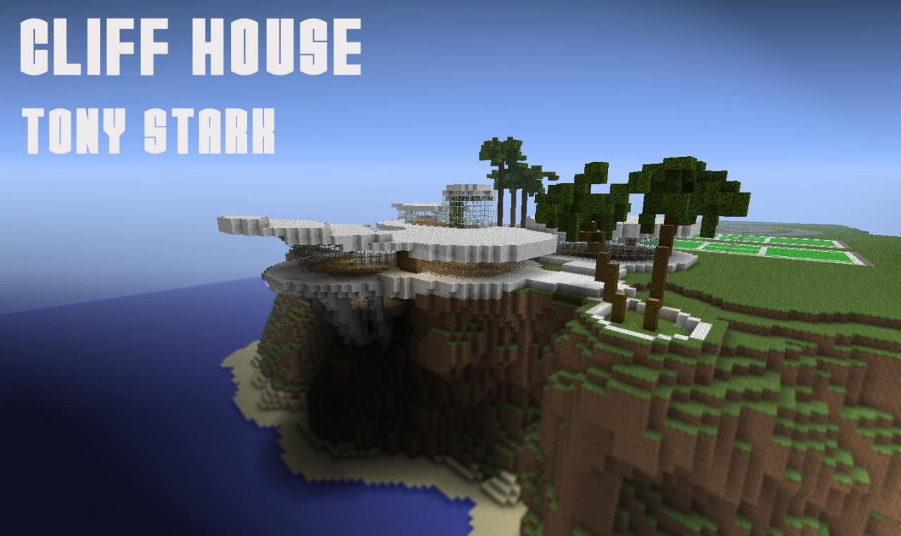 Cliff House Tony Stark Iron Man Minecraft Project