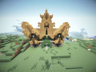 town hall medieval aerial front minecraft