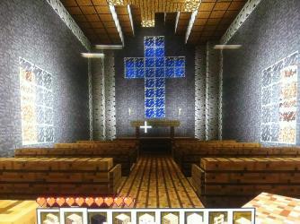 church simple minecraft entrance ground level