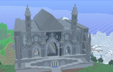 minecraft chapel cathedral schematic planetminecraft