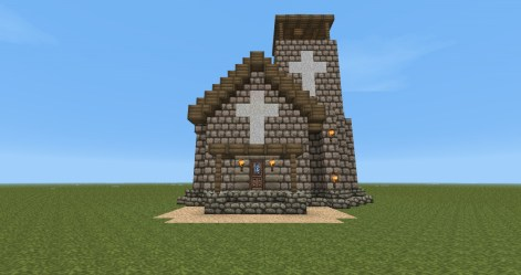 chapel minecraft front project planetminecraft