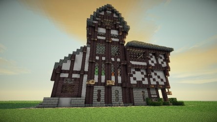 Large Medieval House Design Minecraft Map