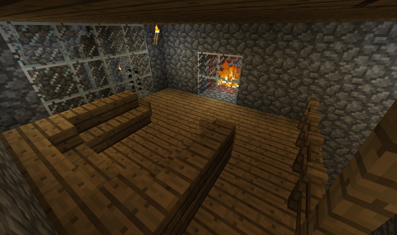 Cool OverhangUnderground house Minecraft Project