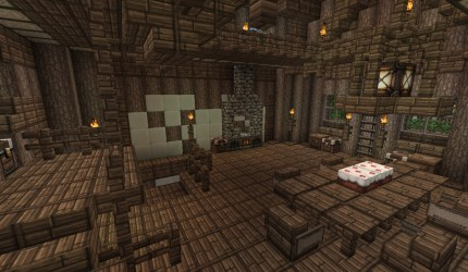 medieval room floor dining heart minecraft craft second