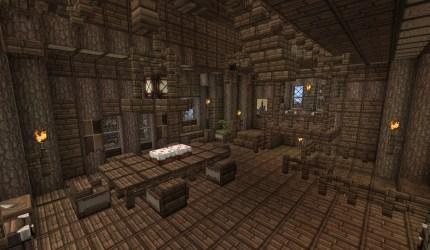 medieval room dining heart minecraft floor craft second