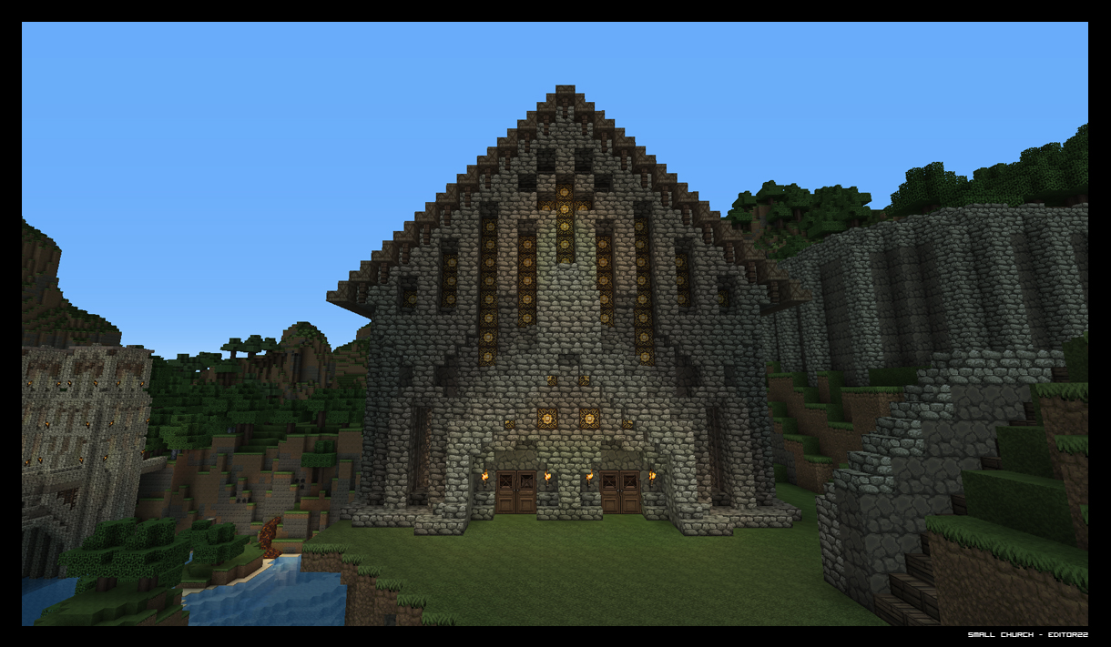 Small Medieval Church Minecraft Project
