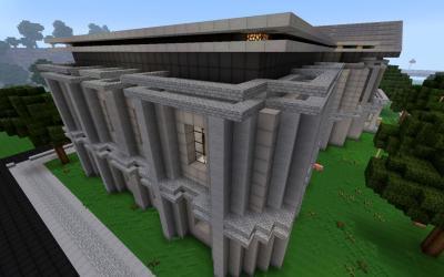 modern hall crafton wip minecraft town detail