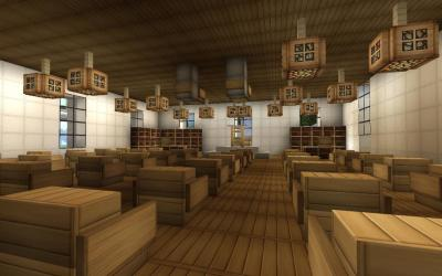 hall modern crafton wip minecraft