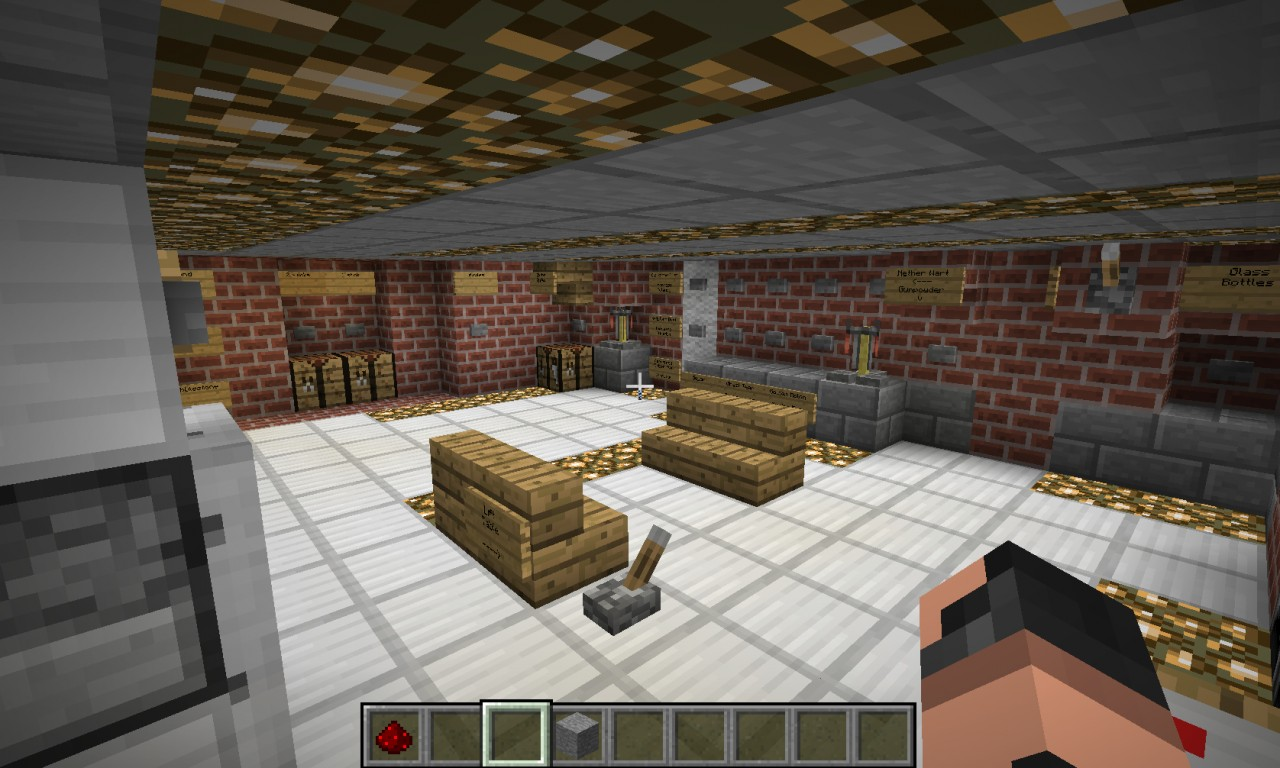 HiTech House  Working bathroom and kitchen Minecraft Project