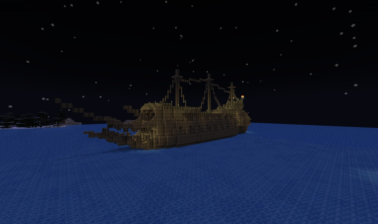 The Flying Dutchman Movie Based Ghost Ship Minecraft Project