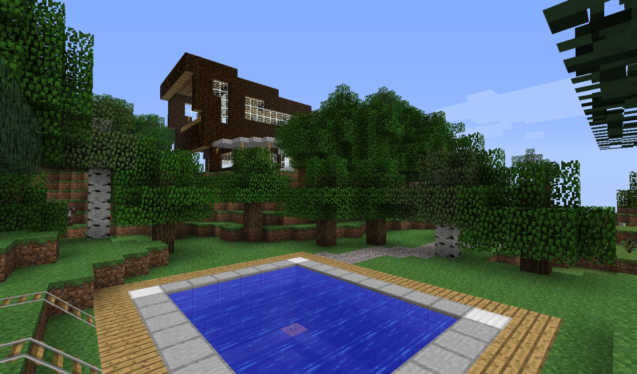 Modern House in the Woods Minecraft Project