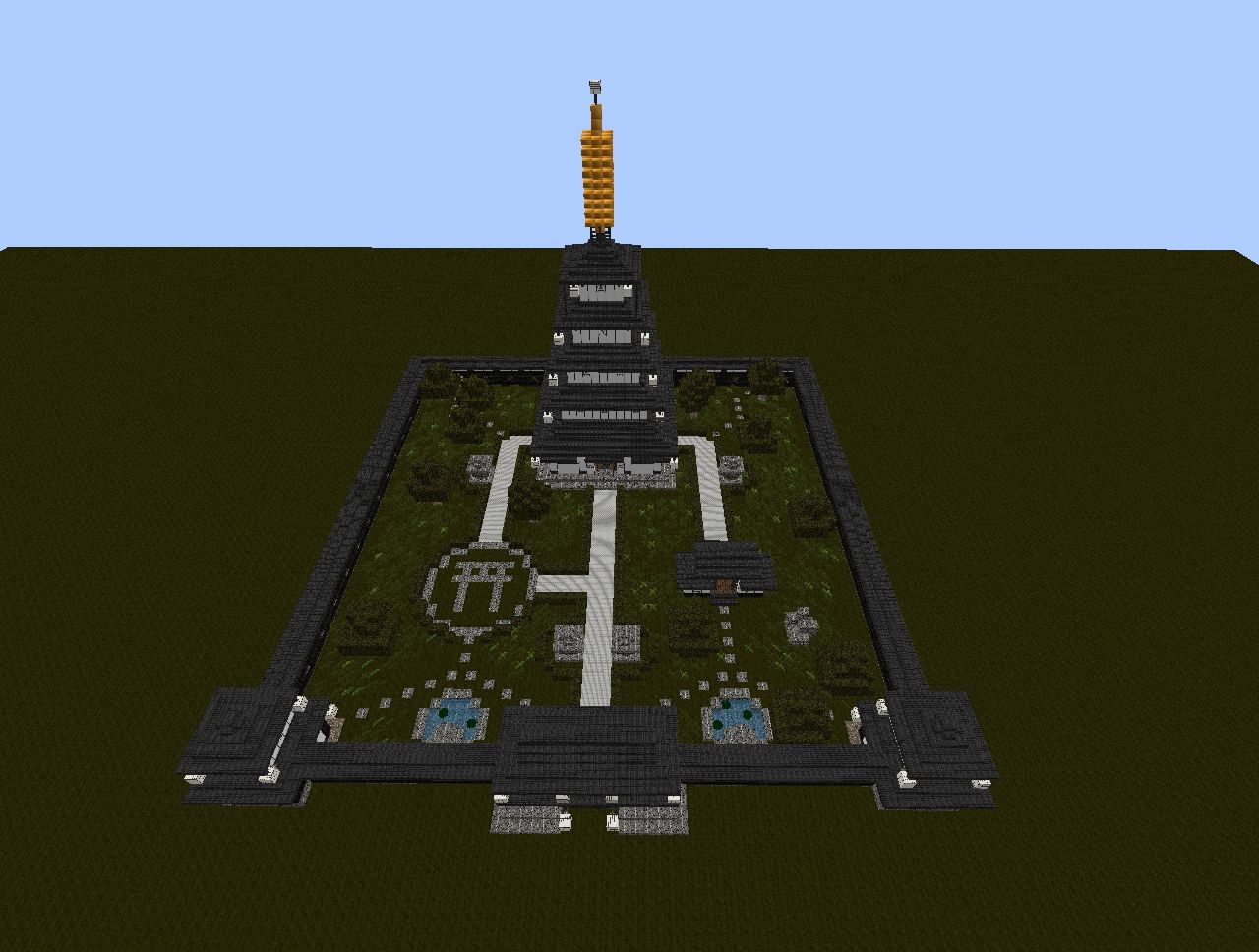 Japanese pagoda complex Minecraft Project