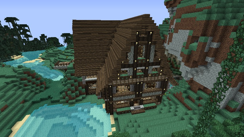 Home In An Overhang Minecraft Project