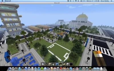 modern park hall massive minecraft library