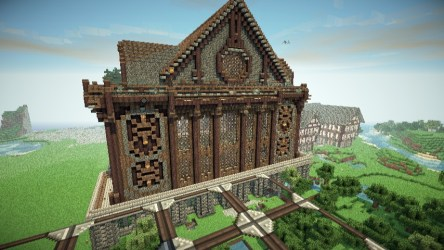 hall town medieval minecraft nordic ish pmcview3d rotation library 3d
