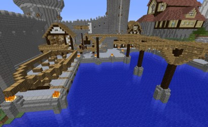 harbor medieval minecraft ship building planetminecraft tower project storage map harbormasters yard