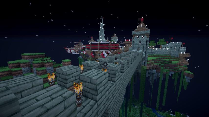 Minecraft Floating Ship