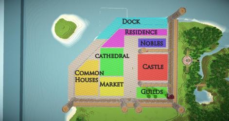 medieval fantasy kingdom layout minecraft kit