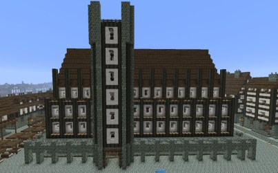 medieval town hall minecraft 3d pmcview3d rotation library viewer planetminecraft