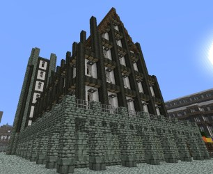 hall town medieval minecraft