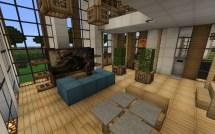 Minecraft Modern House Living Room