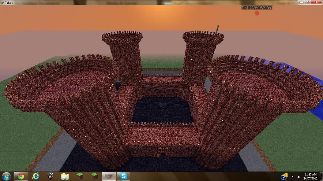 Nether Map Minecraft Castle
