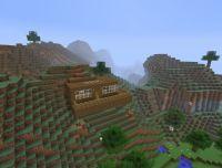 A modern house on a hillside Minecraft Project
